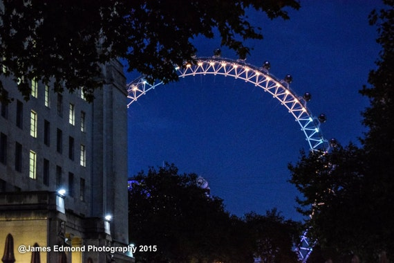 City Photography, London Eye, London Photography, London at dusk, London City, London Landscapes, Wall Art, Wall Print, London at Night