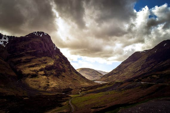 "Landscapes - ""Glencoe - Beautiful Scottish Scenery"", Scottish Photography, Landscape Photography, Wall Art, Wall Decor, Scotland Print"
