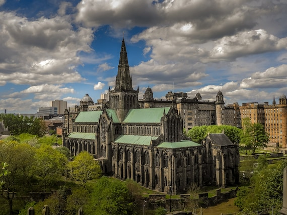 Glasgow Cathedral Photo, Glasgow Cathedral Print, Glasgow Print, Glasgow Photo, Glasgow Photography, Glasgow Wall Art, Glasgow Wall Decor