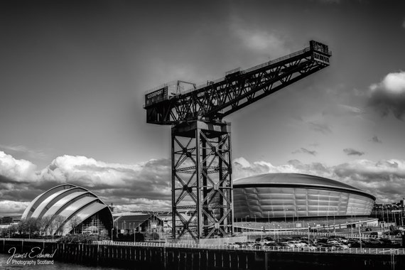 Glasgow Digital Download, Glasgow prints, Monochrome, fine art photography, scottish photography, wall art, wall decor, city photography
