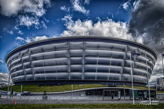Glasgow Digital Download, Hydro, Glasgow prints, glasgow photography, scotland, wall art, wall decor, scottish photography, modern landmarks