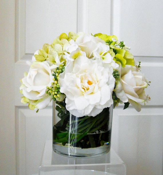 Real Touch Flowers Centerpiece Table Centerpiece Wedding Etsy