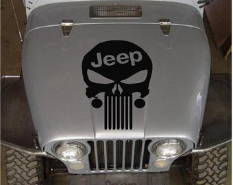 Jeep Punisher Skull hood decal