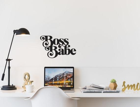 Boss Babe sign Boss babe wood sign boss babe wood cutout