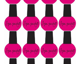 Spa Party Theme Nail Polish CUPCAKE TOPPER For Kids Birthday Cake Decoration PRINTABLE Instant Download And Salon Ideas