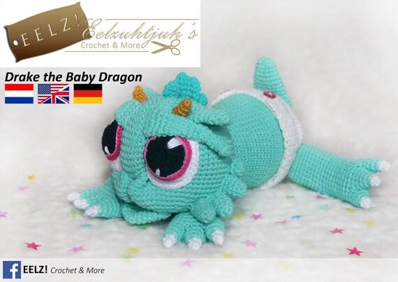 Drake the Baby Dragon Häkelanleitung   Etsy