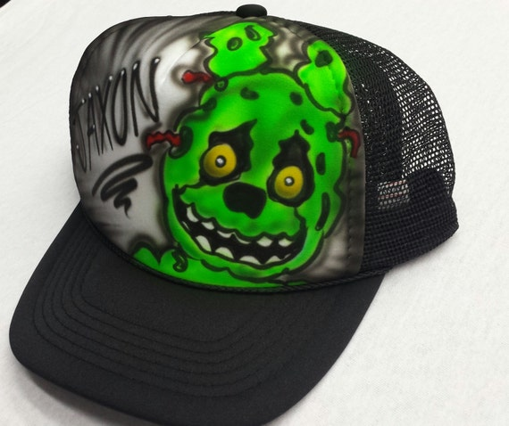 Airbrushed Five Nights At Freddy s Springtrap Inspired Hat  07d7ee618a