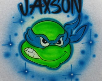 Airbrushed Teenage Mutant Ninja Turtles TMNT Inspired T-Shirt