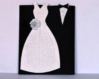 Wedding Card, Wedding Day Card, Wedding Congratulations Card, Bride and Groom Card, Wedding Gift Card