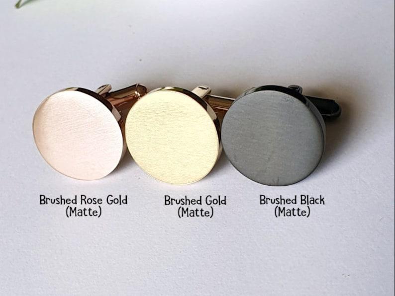 Custom Dad Husband Rose Gold Cufflinks Groom Wedding Black Cuff links father day gift Personalised Gold Cuff Links Handwriting CuffLinks