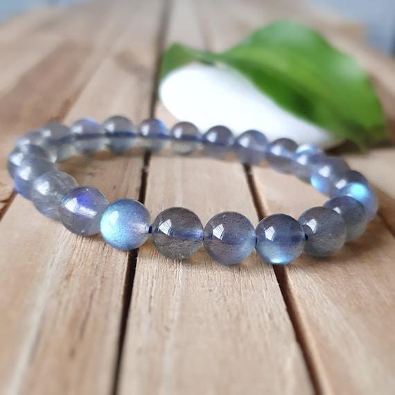boyfriend gift B429 8mm skull bracelet Men bracelet Protection bracelet Genuine Moonlight labradorite bracelet,women yoga bracelet