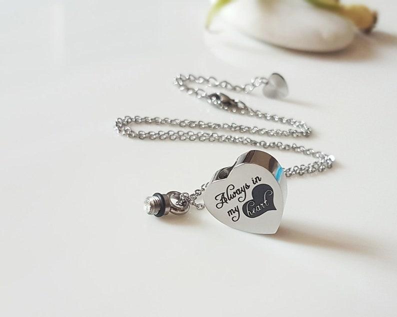 Urn Pendant Custom Mom Dad Urn Necklace Memorial Ash Keepsake Jewellery Remembrance Necklace Ash Holder Necklace Cremation Necklace