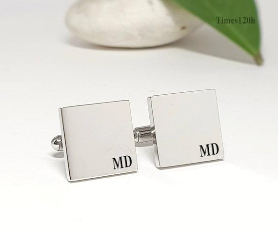 Initials Cufflinks Engraved Cufflinks Personalized Cufflinks Handwriting Father/'s day gift Wedding groom gift