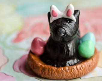 Spring Scottie - Easter - Holiday Silly Scotties Series