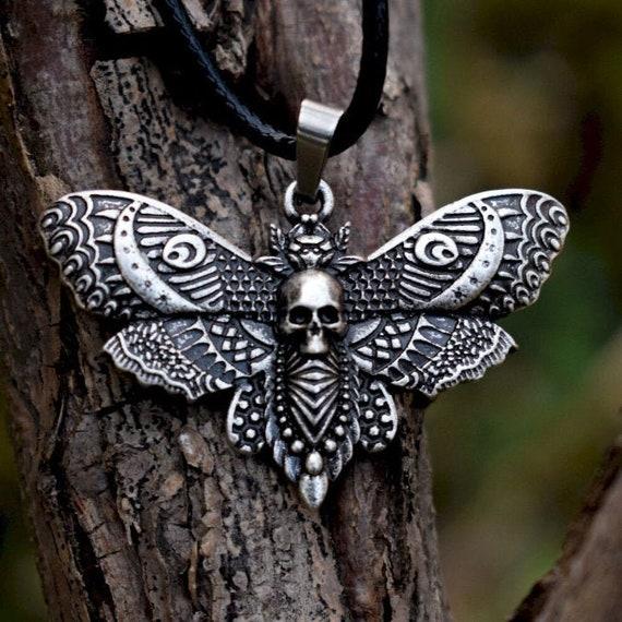 Skull Moth necklace