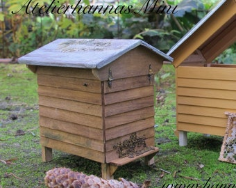 Bee Hives miniature 1:12 for your garden