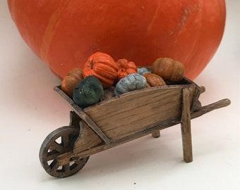 Miniature 1:12 Wheelbarrow -old style in oak