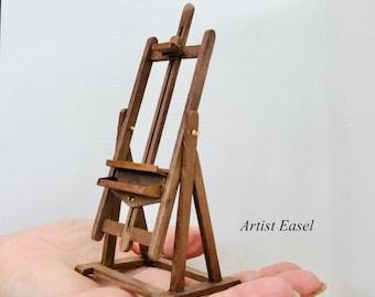 Miniature 1:12 Artist Easel in American walnut