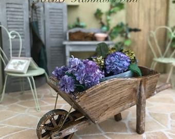 Wheelbarrow 1:12 miniature oak