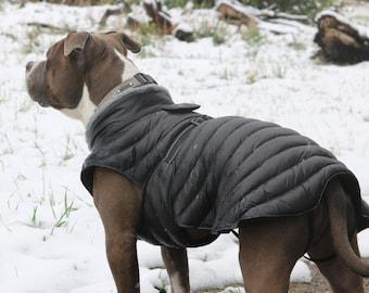 Alpine Extreme Weather Puffer Dog Coat by Doggie Design -Black  68221