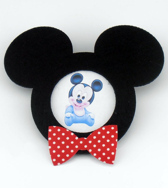 Felt Mickey Mouse Shaped Frame With Magnet For Your Babys Etsy
