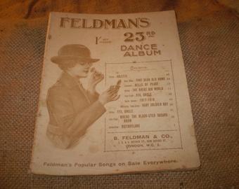 Historic British Victory,end of World War 1 sheet music,Feldmans 23rd Dance Album