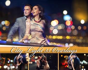 35 City Bokeh Light Overlays, Bokeh Overlays, City Lights Overlays, City Bokeh Light Overlay, Bokeh Clipart, City Light Photo Overlays
