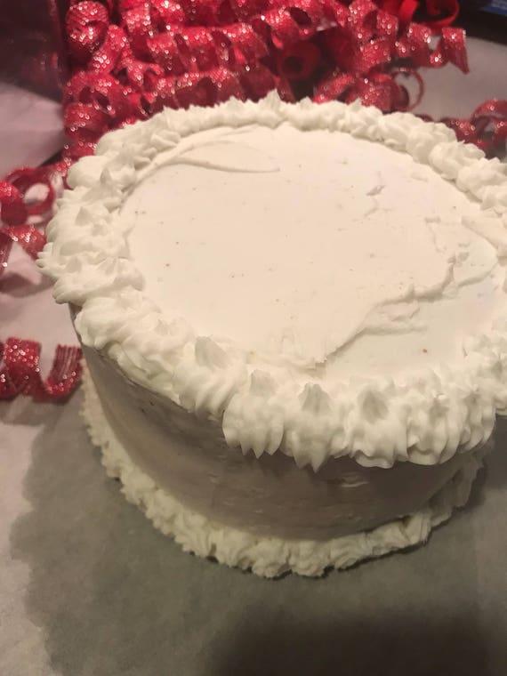 One Layer Birthday Cake No Fillings Just Cake Gluten Free Cake Etsy