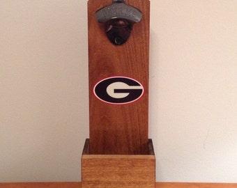 Georgia Bulldogs Wall Mounted Bottle Opener