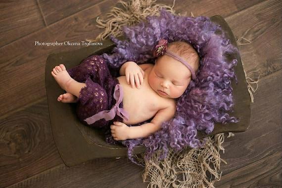 Merino wool blanket baby photo prop Flower backdrop Newborn photo prop girl Wool felt flowers Newborn blanket prop photography