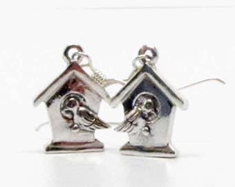 Vintage easter gifts etsy bird in birhouse earrings boho jewelry birdhouse spring gifts easter gifts negle Image collections