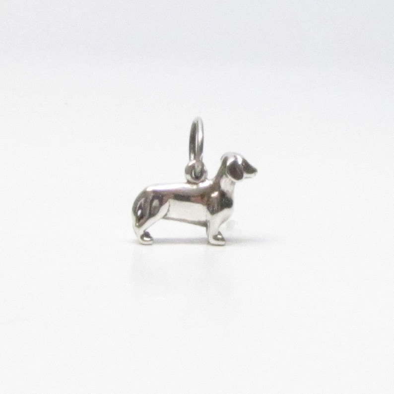 d933fdf3863ed DACHSHUND, Charm, Sterling Silver, Wiener Dog Lover, Doxie, Sausage Dog,  Dog Lover Gift, Dachshund Gift, Wiener Dog Gift, Charm Bracelet