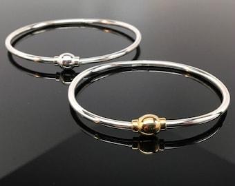 ETERNITY BANGLE, Silver Bangle, Hinged Bangle, Charm Bracelet, Modern Bracelet, Stacking Bangle, Silver Bracelet, Locking Bangle, Jewelry