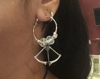 Tribal belly dance medieval earrings