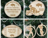 Buffalo Bills ornament - playoffs - division champs - AFC champions - superbowl - wooden engraved laser cut
