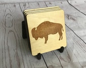 Buffalo Wood Coasters