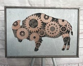 Gear Buffalo 3D Wall Piece