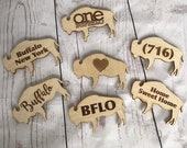 Buffalo Engraved Wooden Magnets