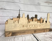 Buffalo New York Wooden Skyline Statue