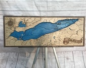 Wooden Lake Erie Bathymetric Map