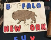 Buffalo New York Kid Puzzle