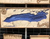 Wooden Lake Ontario Bathymetric Map