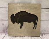Buffalo Bison Rustic Wooden Wall Decor