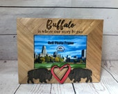 Buffalo Engraved Picture Frame