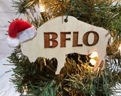 BFLO Buffalo Bison Wooden Engraved Ornament