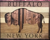 Large rustic Buffalo, New York wall art