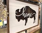 Buffalo Bison Home Wall Piece