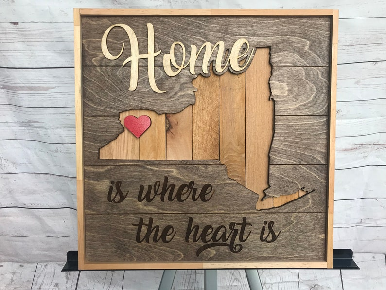Rustic Art Home is Where the Heart is  Buffalo image 0