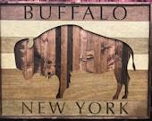 Large rustic Buffalo, New York wall art