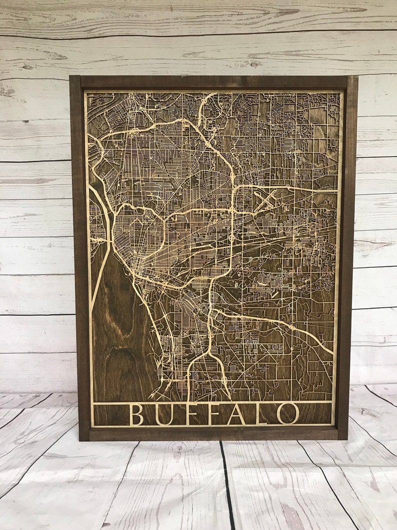 Rustic Buffalo City Map  3D image 0
